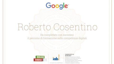 Google e Eccellenze in Digitale: conseguito il Certificato di Competenze Digitali